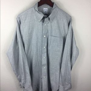 Men's BROOKS BROTHERS REGENT fit oxford shirt L